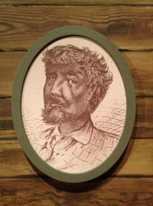 Portrait of DuSable at the Chicago History Museum from the Moss Engraving Co.